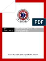 Ambulance Standard Operating Procedures