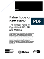 False Hope or New Start? The global fund to fight HIV/AIDS, TB, and Malaria