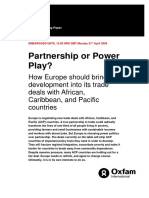 Partnership or Power Play? How Europe should bring development into its trade deals with African, Caribbean, and Pacific countries