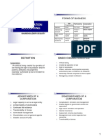 Accounting for CORPORATION