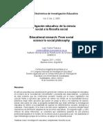Tedesco - 2003 - Investigación Educativa de La Ciencia Social a La Filosofía Social