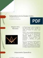 Unidad 3 Independencia de Los EEUU Masonería - Manuel Villegas