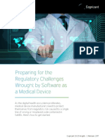Preparing for the Regulatory Challenges Wrought by Software as a Medical Device
