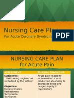 ACS Nursing Care Plan