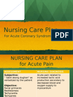 ACS Nursing Care Plan