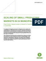 Scaling of small producers' markets in 24 municipalities