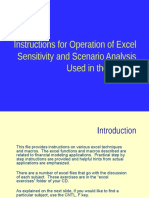 Exel Background - Senario and Sensitivity