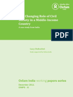 The Changing Role of Civil Society in a Middle-Income Country