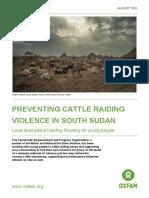 Preventing Cattle Raiding Violence in South Sudan
