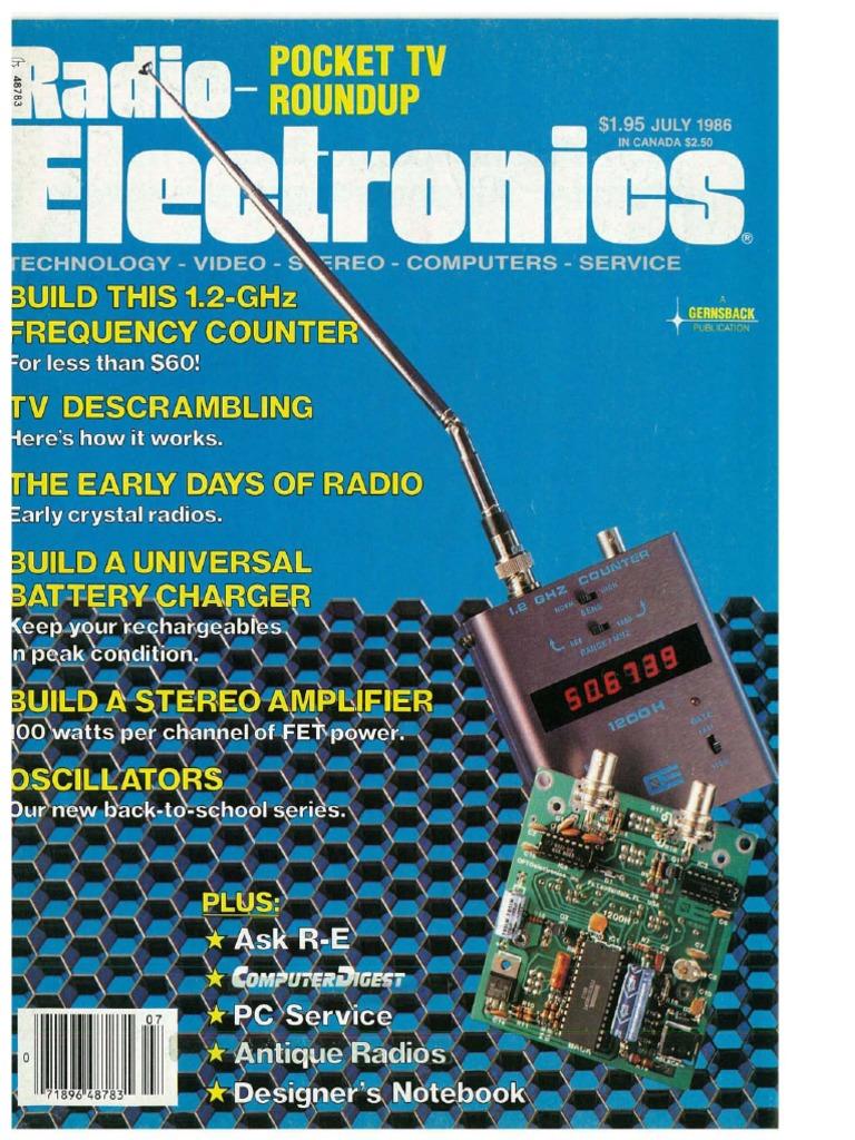 Radio Electronics July 1986 | Electronics | Electrical Engineering