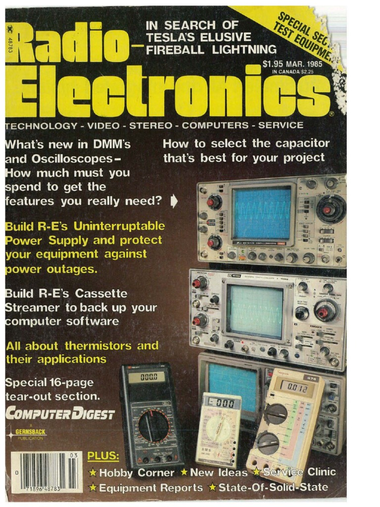 Radio Electronics March 1985 Telecommunications Sperry Instruments Circuit Breaker Finder Accessory Kit Hd Supply