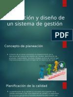 Planeación y Diseño de Un Sistema de Gestión