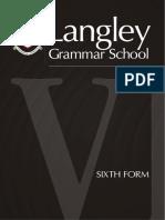 Langley Grammar School Prospectus.82902078