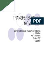 10 Transferencia de Momentum