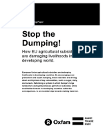 Stop the Dumping! How EU agricultural subsidies are damaging livelihoods in the developing world