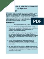 Argumentos de Fray Bartolome Y Juan Gines