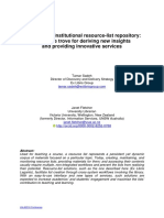 Creating a Global and Institutional Resource List Repository VALA Conference Proceedings