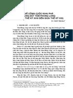 Về Công Cuộc Khai Phá Vùng Đất Tầm Phong Long - Trần Thị Mai