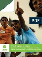 Collaboration in Crises