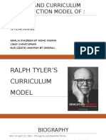 Ralph Tyler's Curriculum Model