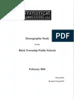 Brick Township Schools Demographic Study