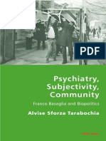 Alvise Sforza Tarabochia-Psychiatry, Subjectivity, Community_ Franco Basaglia and Biopolitics-Peter Lang AG, Internationaler Verlag Der Wissenschaften (2013)