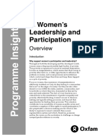 Women's Leadership and Participation