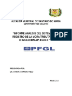 Analisis Sistema Del Registro de La Mora Tributaria - Santiago de Maria