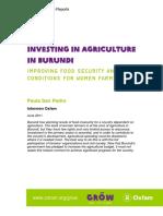 Investing in Agriculture in Burundi