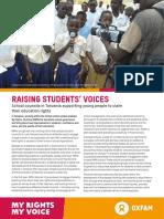 Raising Students' Voices
