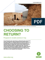 Choosing to Return? Prospects for durable solutions in Iraq