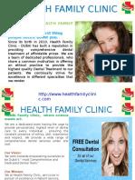 Health Family Clinic. Free Dental Consultation or Checkup Dubai and Best Dental Treatment in Dubai&UAE