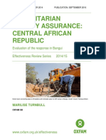 Humanitarian Quality Assurance - Central African Republic
