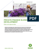 Private-finance Blending for Development