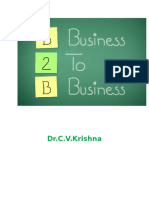 B2B Marketing Notes Dr C V Krishna