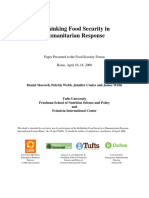 Rethinking Food Security in Humanitarian Response