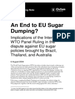 An End to EU Sugar Dumping? Implications of the WTO panel ruling in the dispute against EU sugar policies brought by Brazil, Thailand, and Australia
