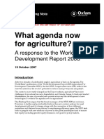 What Agenda Now for Agriculture? A response to the World Development Report 2008