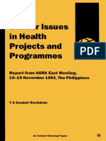 Gender Issues in Health Projects and Programmes