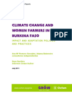 Climate Change and Women Farmers in Burkina Faso