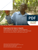 Preparing for the Future? Understanding the influence of development interventions on adaptive capacity at the local level in Uganda