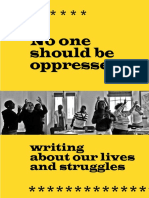 No-one Should Be Oppressed