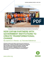 How Oxfam partners with government institutions to create transformational change