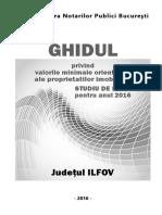 Ghidul Notarial Privind Valorile Orientative Ale Proprietatilor in ILFOV