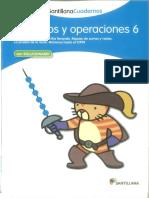 Cuaderno Santillana Números y Operaciones 6