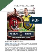 Prediksi AC Milan vs Chievo 5 Maret 2017