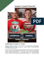 Prediksi Liverpool vs Arsenal 5 Maret 2017