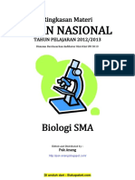 Rangkuman Materi UN Biologi SMA Berdasarkan SKL 2013