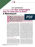 Influence des paysages sur la marche à pied à Besançon