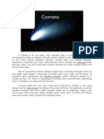 A comet is an icy body that releases gas or dust.docx